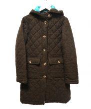 BEAVER(ビーバー)の古着「キルティングフーデッドコート」|ブラウン