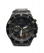 Marc by Marc Jacobs(マーク・バイ・マーク・ジェイコブズ)の古着「マリンウォッチ 腕時計」|ブラック