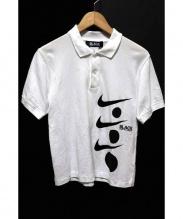 BLACK COMME des GARCONS×NIKE(ブラックコムデギャルソン×ナイキ)の古着「半袖ポロシャツ」|ホワイト