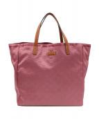 GUCCI(グッチ)の古着「GGナイロントートバッグ」|ピンク