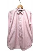 COMME des GARCONS HOMME DEUX(コムデギャルソン オム ドゥ)の古着「ステッチワークシャツ」 ピンク