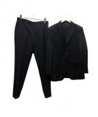 BLACK LABEL CRESTBRIDGE(ブラックレーベルクレストブリッジ)の古着「シルク混セットアップスーツ」|ブラック