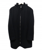 agnes b(アニエスベー)の古着「フーデットウールコート」 ブラック