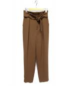 BOSCH(ボッシュ)の古着「ベルト付パンツ」|ブラウン