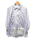 BEAMS surf&sk8(ビームスサーフスケート)の古着「ナイロンポケットシャツ」|ホワイト×ブルー