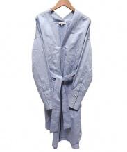 MADISON BLUE(マディソンブルー)の古着「NOCOLLAR SHIRT ONEPIECE」|ブルー