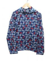 COMME des GARCONS SHIRT(コムデギャルソンシャツ)の古着「ナイロンフーデッドジャケット」 ブルー