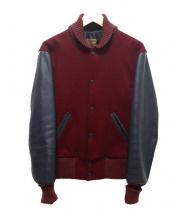 SKOOKUM(スクーカム)の古着「アワードスタジャン」 ブラック×ボルドー