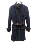 EPOCA(エポカ)の古着「ツイードコート」|ネイビー