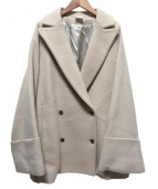 ELIN(エリン)の古着「W/face cape slit db coat」|アイボリー