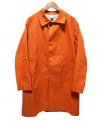 HANCOCK(ハンコック)の古着「ゴム引きコート」 オレンジ