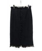 DRESSTERIOR(ドレステリア)の古着「リネンツイードスカート」|ブラック