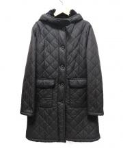 MACKINTOSH(マッキントッシュ)の古着「フーデットキルティングコート」|ブラック