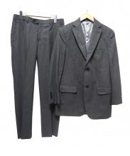 Aquascutum(アクアスキュータム)の古着「2Bストライプスーツ」|グレー
