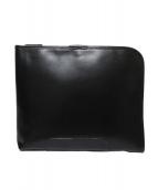 F.CLIO(エフクリオ)の古着「レザークラッチバッグ」|ブラック