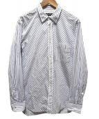 COMME des GARCONS HOMME DEUX(コムデギャルソン オムドゥ)の古着「バイアスストライプシャツ」|ブルー×ホワイト