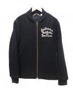 BEN DAVIS(ベン デイビス)の古着「メルトンカークラブジャケット」|ブラック