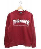 THRASHER(スラッシャー)の古着「ロゴスウェット」|ボルドー