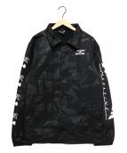THRASHER(スラッシャ)の古着「MALTI-A BOA PRINT COACH JACKET」|ブラック