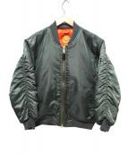 JACKSON MATISSE(ジャクソン マティス)の古着「ダメージ加工MA-1ジャケット」|オリーブ