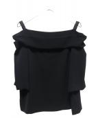 noire de muse(ノアードゥミューズ)の古着「オフショルダーブラウス」 ブラック
