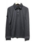 LOUIS VUITTON(ルイ・ヴィトン)の古着「ウールポロシャツ」|グレー