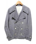 Scye(サイ)の古着「リネン混Pコート」|ブルー