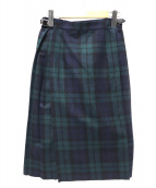 ONEIL OF DUBLIN(オニール オブ ダブリン)の古着「チェック柄ラップスカート」