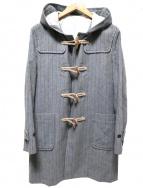 THE NERDYS(ザナーディーズ)の古着「ヘリンボーンダッフルコート」|スカイブルー