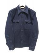 TROPHY CLOTHING(トロフィークロージング)の古着「インディゴシャツ」|ネイビー