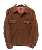 TENDERLOIN(テンダーロイン)の古着「コーデュロイウエスタンシャツ」|ブラウン