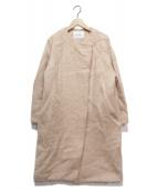 Spick and Span(スピック&スパン)の古着「モヘヤシャギークルーネックコート」 ピンク