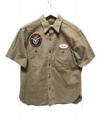 Buzz Ricksons(バズリクソンズ)の古着「コントラクターシャツ」 オリーブ