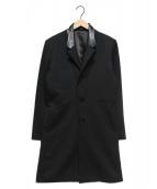 NO ID.(ノーアイディー)の古着「TRスタンドラペルストレッチチェスターコート」|ブラック