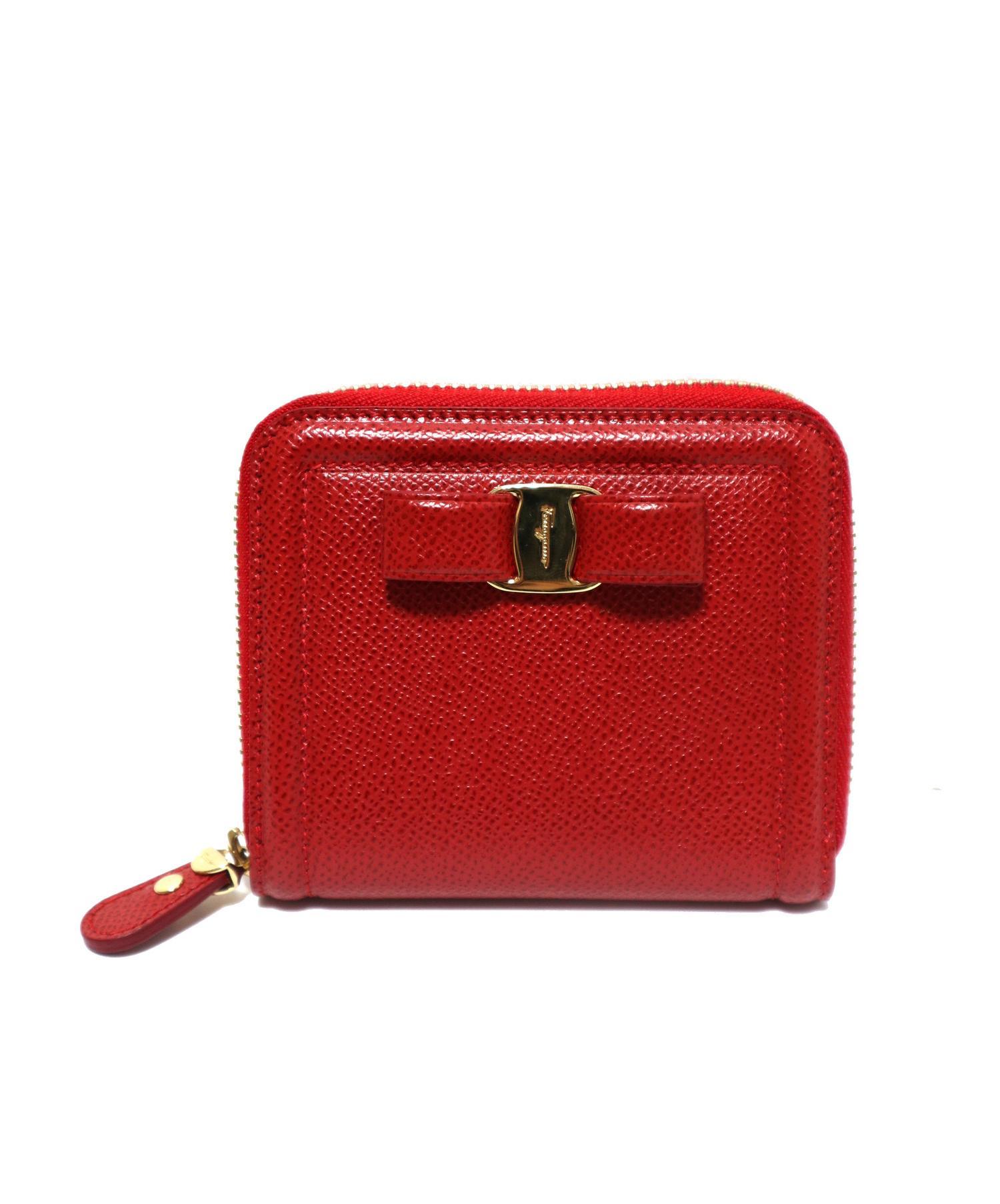 on sale 9759d 9fa34 [中古]Salvatore Ferragamo(サルヴァトーレ フェラガモ)のレディース 服飾小物 2つ折り財布