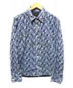 CALEE(キャリ)の古着「総柄シャツ」|ブルー