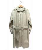 HUMAN WOMAN(ヒューマンウーマン)の古着「ギャバショートコート」 ベージュ
