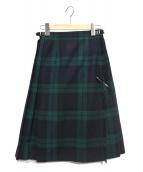 ONEIL OF DUBLIN(オニール オブ ダブリン)の古着「チェックキルトスカート」|グリーン