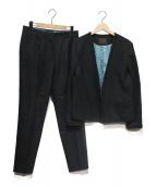 TOMORROW LAND collection(トゥモローランドコレクション)の古着「ウールストレッチセットアップ」|ブラック