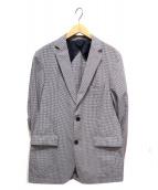 HUGO BOSS(ヒューゴボス)の古着「シアサッカージャケット」|ホワイト×ブラウン