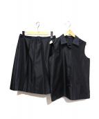 PRADA(プラダ)の古着「セットアップブラウス」|ブラック