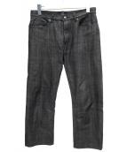 A.P.C.×THE POOL AOYAMA(アーペーセー×ザ・プールアオヤマ)の古着「デニムパンツ」|ブラック