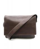 土屋鞄(ツチヤカバン)の古着「レザーショルダーバッグ」|ブラウン