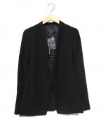 22 OCTOBRE(22オクトーブル)の古着「ノーカラージャケット」|ブラック