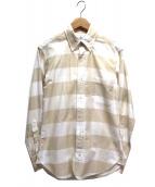 Black Fleece(ブラックフリース)の古着「ボタンダウンシャツ」|ベージュ×ホワイト