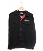 WACKOMARIA(ワコマリア)の古着「ボーリングシャツ」|ブラック
