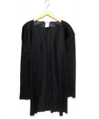 ISSEY MIYAKE(イッセイミヤケ)の古着「プリーツトッパーカーディガン」|ブラック