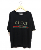 GUCCI(グッチ)の古着「オーバーサイズコットンTシャツ」|ブラック