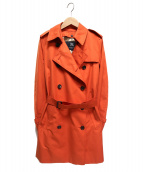 BURBERRY LONDON(バーバリーロンドン)の古着「ライナー付トレンチコート」|オレンジ