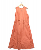 Schoffel(ショッフェル)の古着「ノースリーブワンピース」|オレンジ